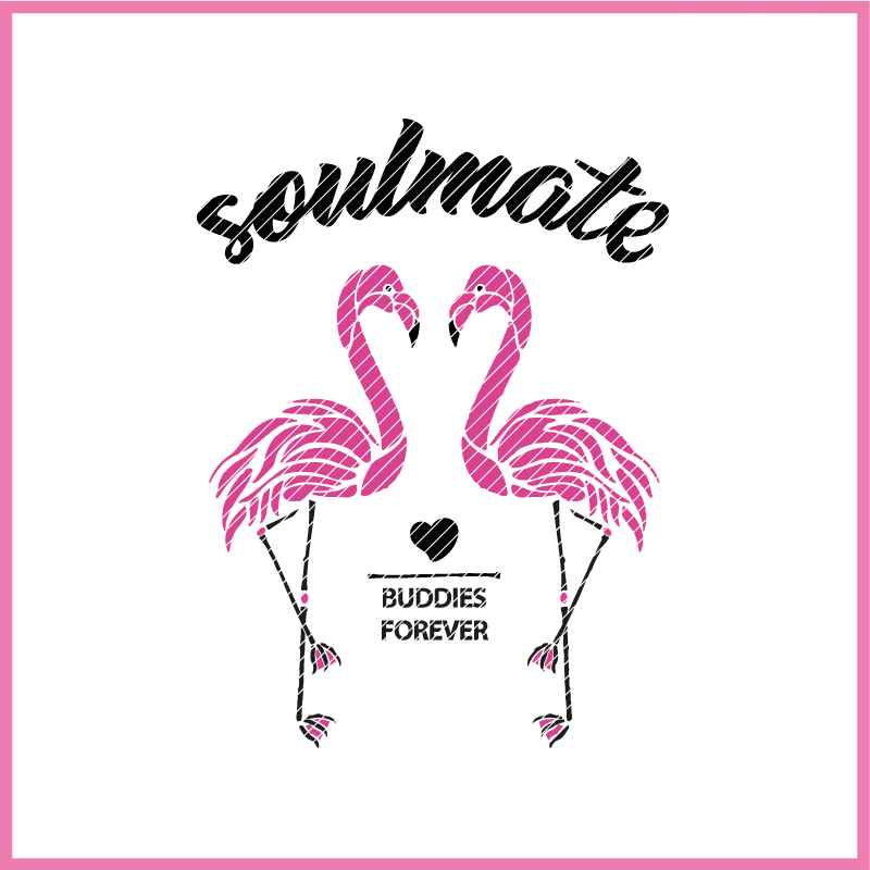 Plotterdatei zum Download SOULMATE FLAMINGO