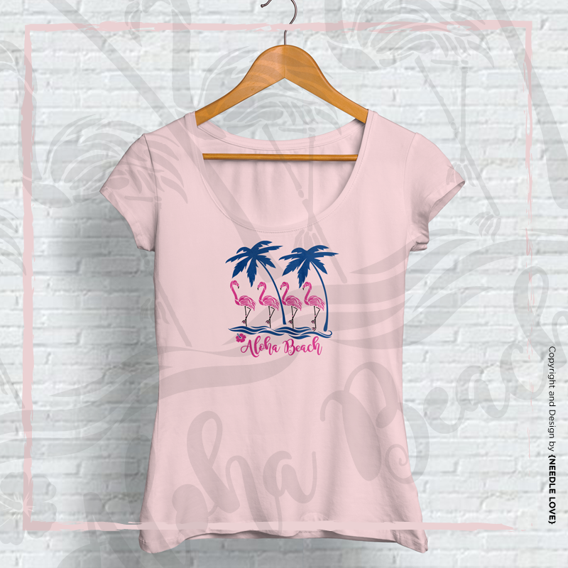 Plotterdatei zum Download FLAMINGO ALOHA BEACH