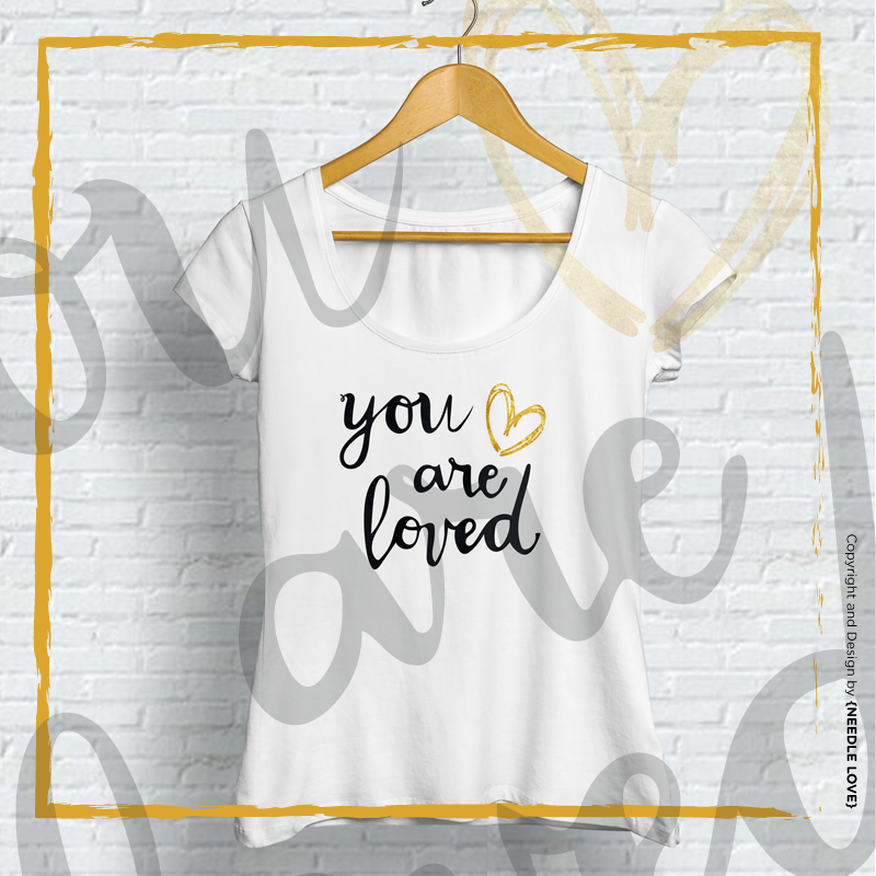 YOU ARE LOVED Freebie Plotterdatei zum Download