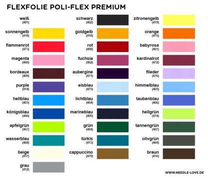 Farbkarte Flexfolie