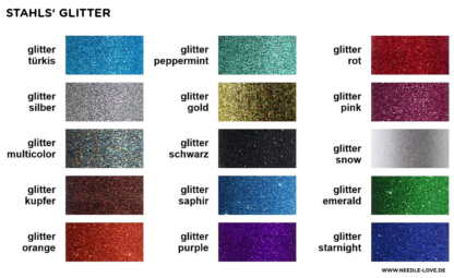 Farbkarte Glitterfolie