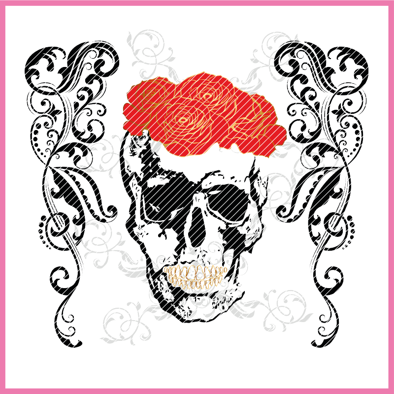 BOHO SKULL Plotterdatei zum Download
