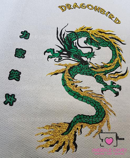 DRAGONBIRD coole Farbkombi smaragd mit Gold
