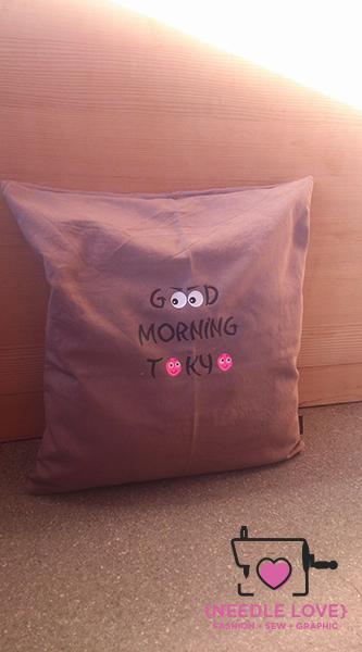 GOOD MORNING TOKYO Kissenhülle