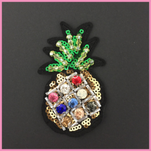Pailletten-Patch Bling-Bling Pineapple