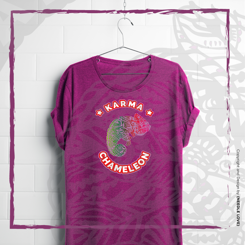 Karma Chameleon das neue Glitter-Lieblingshirt!